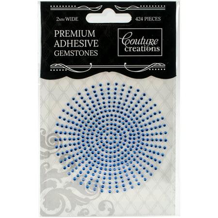 Couture Creations Self-Adhesive Gemstones 2mm 424/Pkg-Azure
