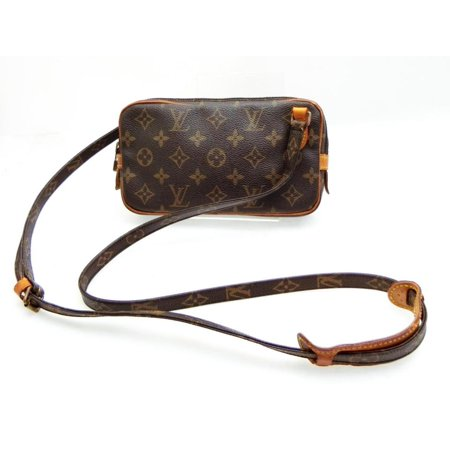 Marly Pochette Monogram Bandouliere 231786 Brown Coated Canvas Cross Body