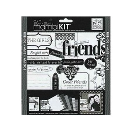 Me And My Big Ideas Scrapbook Page Kit Lbd Friends 8 X 8 - Birthday Scrapbook Ideas
