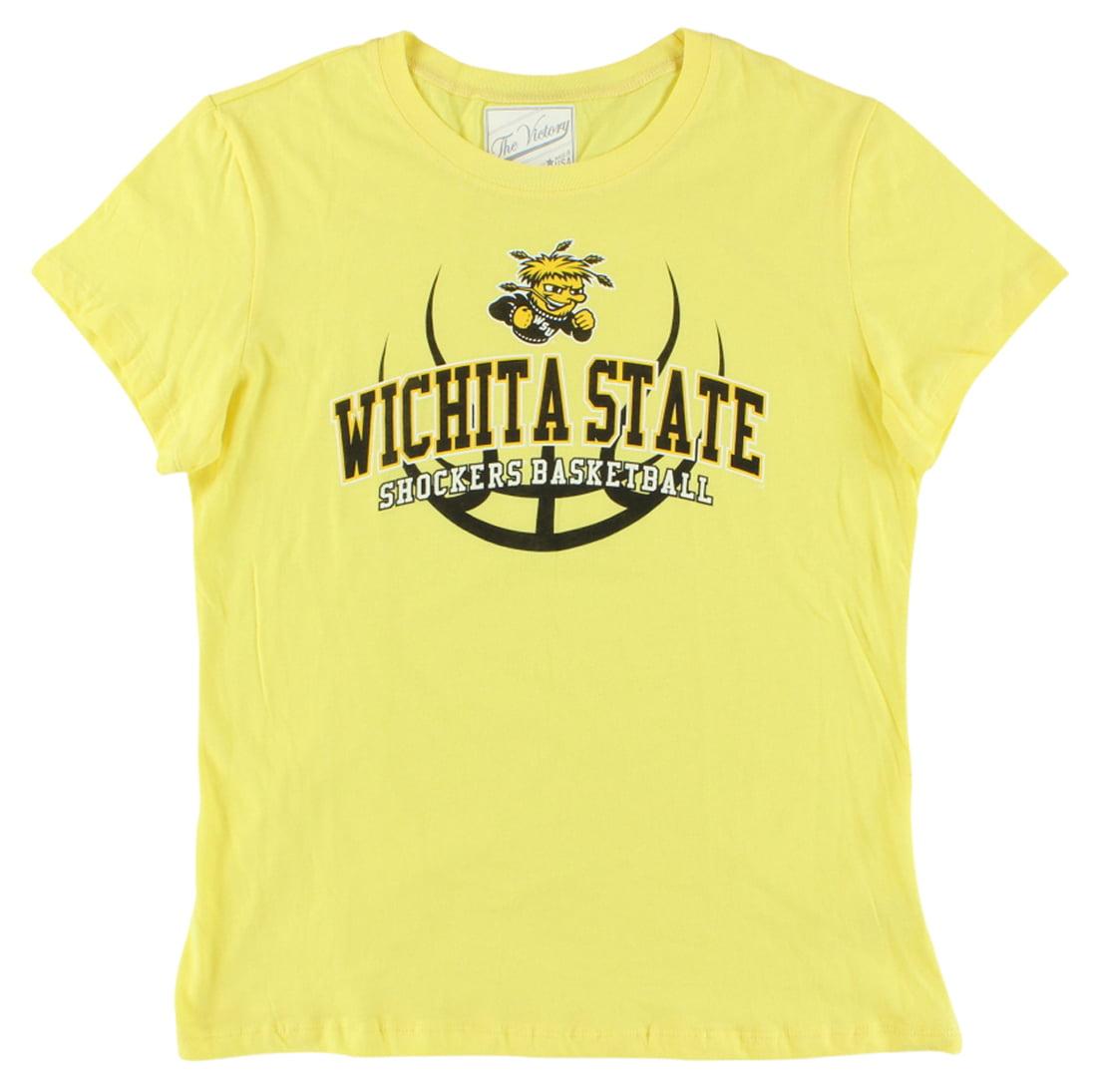 The Victory Womens Wichita State Shockers College Basic Crew T Shirt Yellow