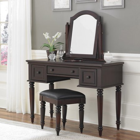 Super Home Styles Bermuda Vanity And Bench Espresso Dailytribune Chair Design For Home Dailytribuneorg