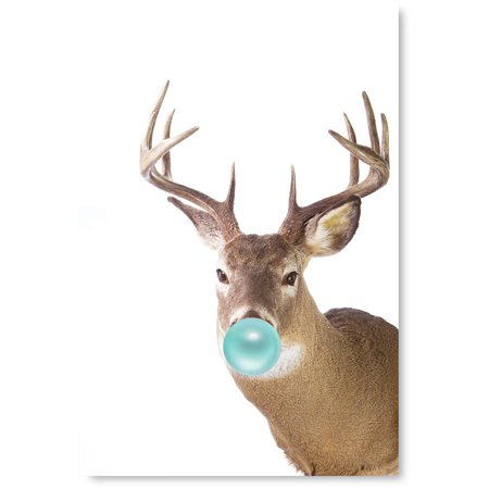 Idea Bubble (Awkward Styles Animal Chewing Bubble Gum Unframed Print Funny Bubble Print Poster Collection for Home Decor Cute Deer Posters Deer Birthday Party Bubble Gum Housewarming Gifts Ideas Lovely)