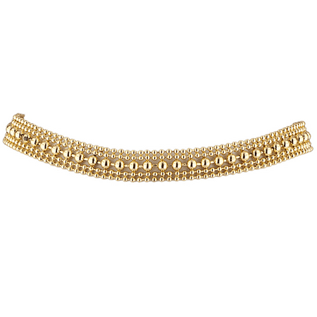 Lux Accessories Gold Tone Edgy Geo Ball Chain Statement Trendy Choker Necklace