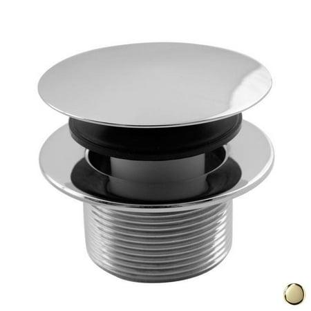 Westbrass D398R 03 1 5 in Round Mushroom Tip Toe Bath Drain Polished B