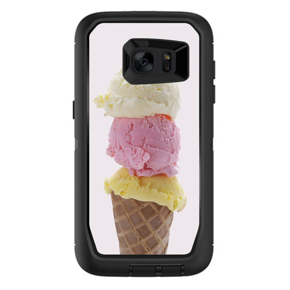 Skins Decals For Otterbox Defender Samsung Galaxy S7 Edge Case / Ice Cream Cone
