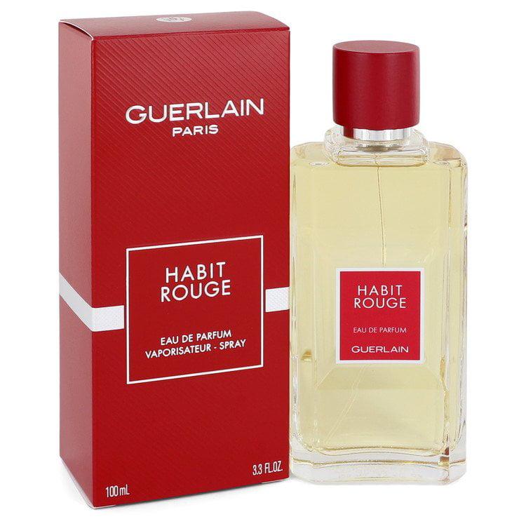 Habit Rouge Cologne By Guerlain 3 3 Oz Eau De Parfum Spray Walmart Com Walmart Com