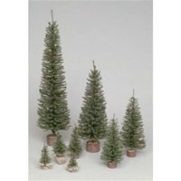 32 in. Carmel Pine Tree 320 Tips Wood Base