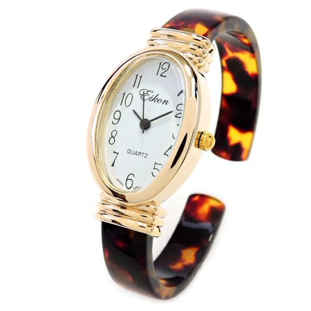 Tortoise Gold Acrylic Band Oval Face Women