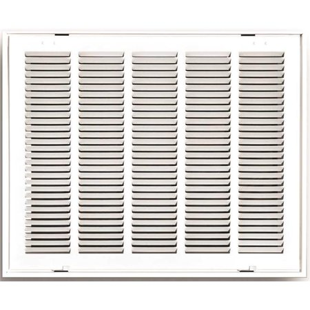 STAMPED RETURN AIR FILTER GRILLE REMOVABLE FACE 20 IN X 20 IN WHITE pe