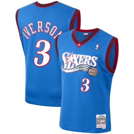 Allen Iverson Philadelphia 76ers Mitchell & Ness Hardwood Classics 2000-01 Swingman Jersey - Royal