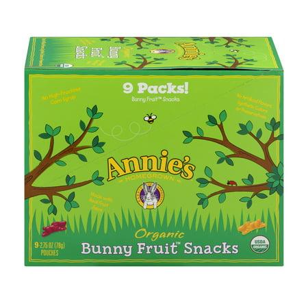 Annie's Organic Bunny Berry Patch Fruit Snacks, 24.75 oz](Healthy Toddler Snacks Halloween)