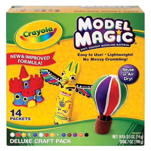 Crayola Model Magic, Deluxe Craft Pack, Clay Alternative, Gift for Kids