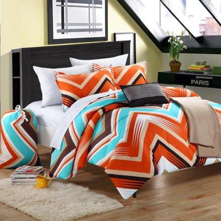 Chic Home Ziggy Zag Peach 9 Piece Dorm Room Bedding Set