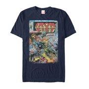 Marvel Men's Iron Fist vs Atomic Man Comic T-Shirt
