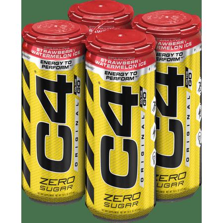 C4 Original Carbonated Pre Workout Energy Drink 4 16oz