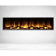 Dynasty 64 in. LED Wall Mounted Electric Fireplace