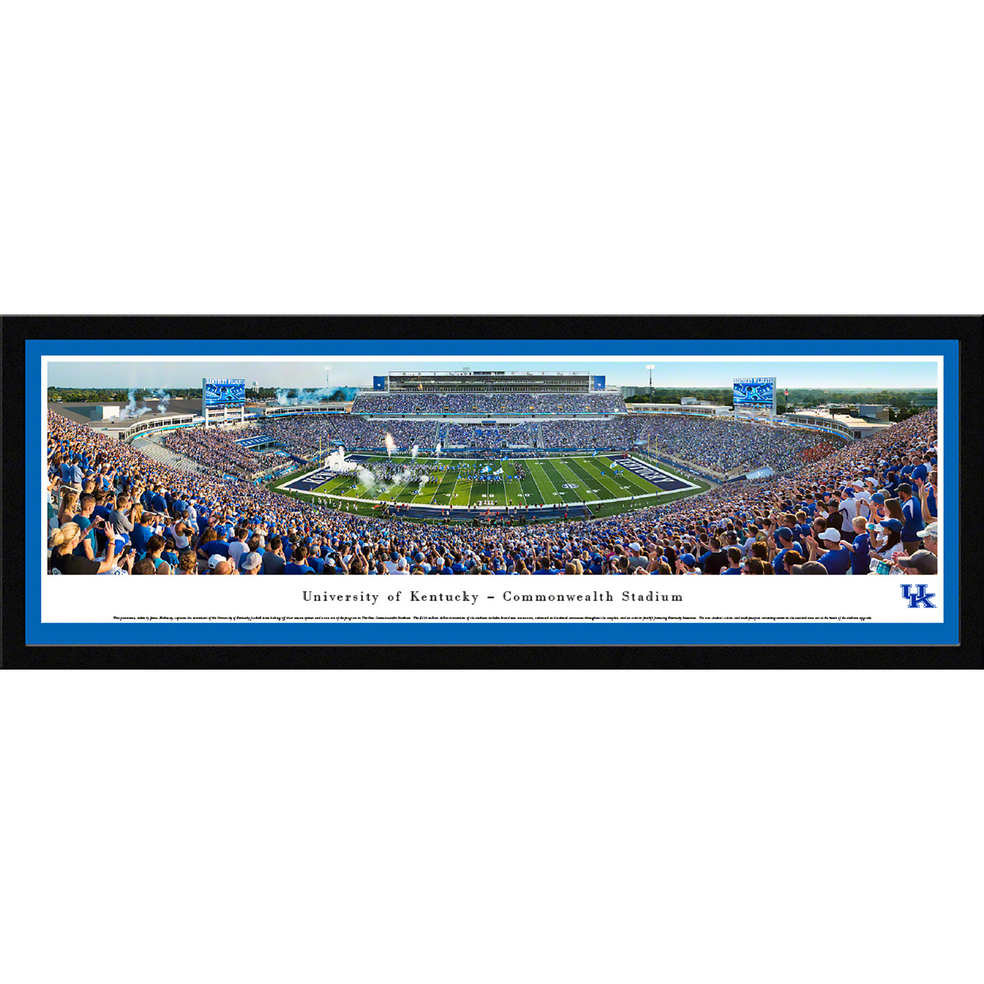 University of Kentucky Wildcats Football - Blakeway Panoramas NCAA College Print with Select Frame and Single Mat