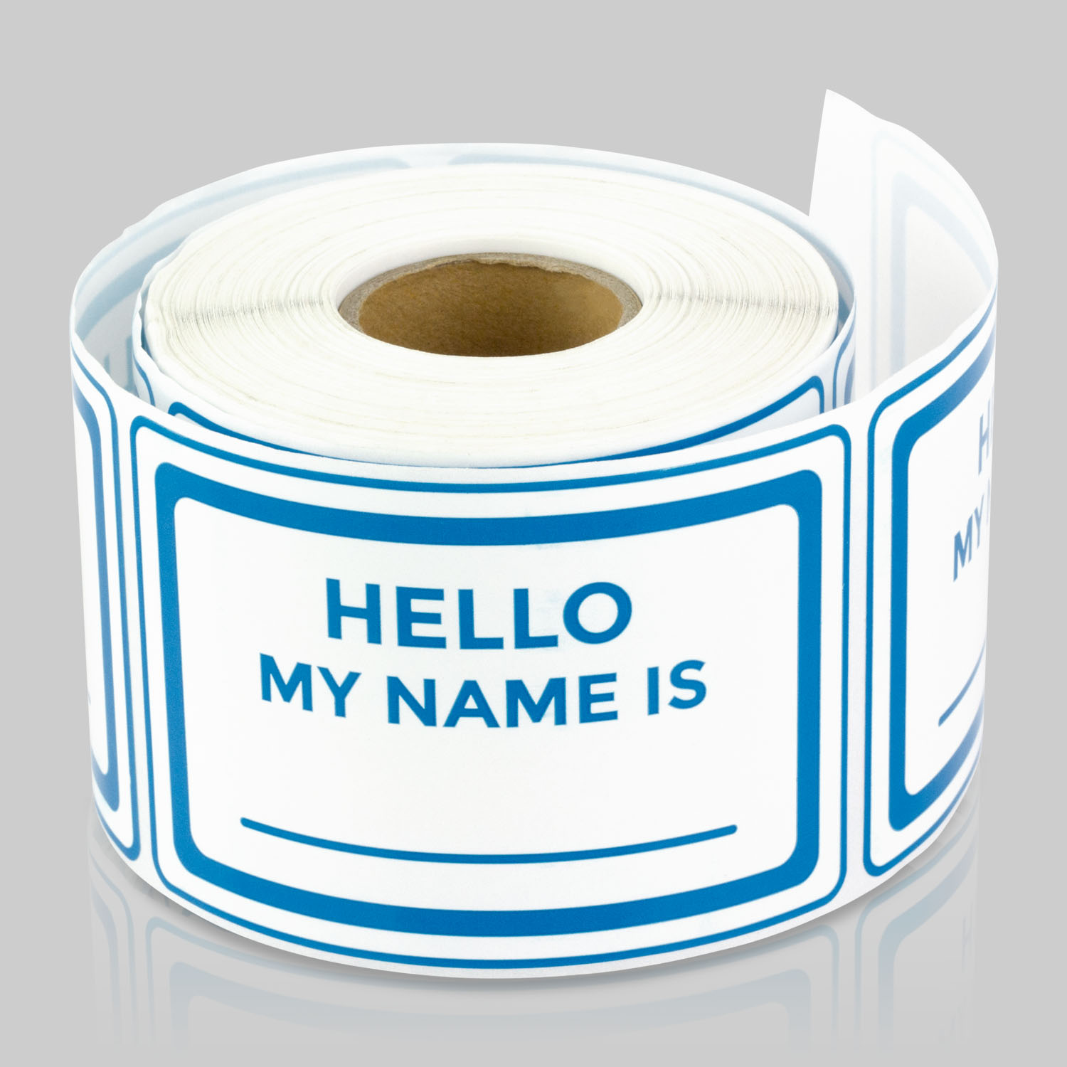 3 x 2 inch hello my names is blue color name tag badges labels stickers by tuco deals blue 10 rolls per pack walmart com