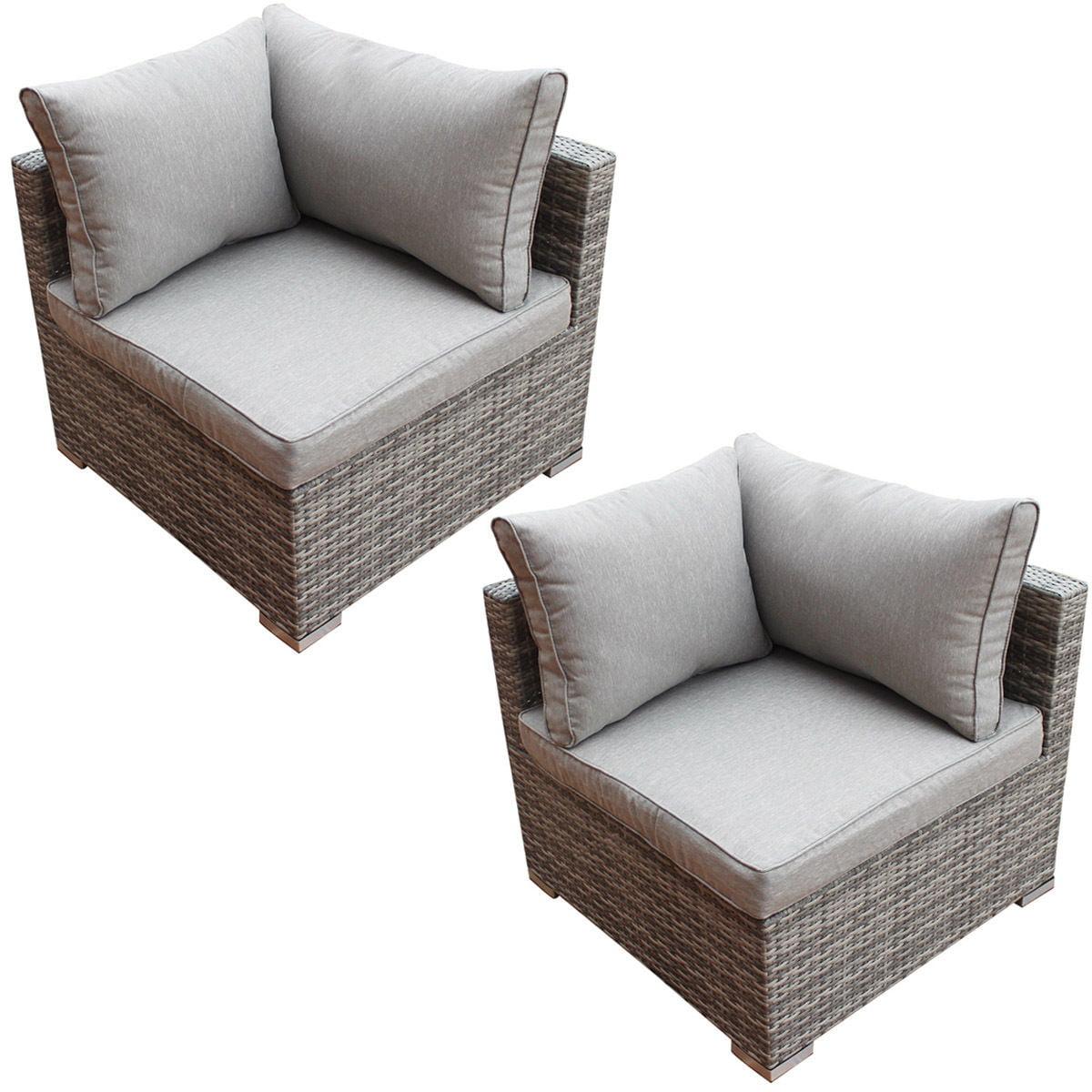 Costway Patio Rattan Sofa Furniture Set Infinitely Combination Cushioned PE Wicker