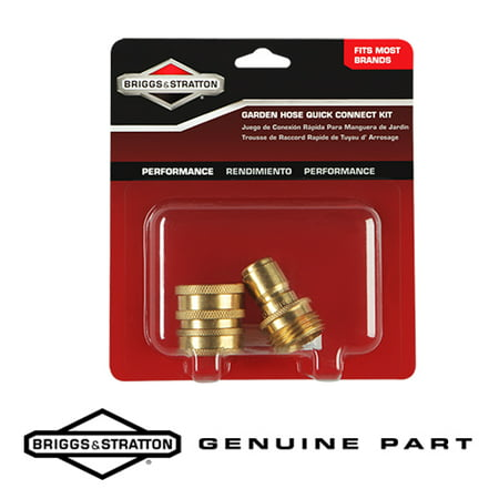 Image of Briggs & Stratton 6190 Genuine Garden Hose Quick Connect Kit with Brass Fittings B3237GS