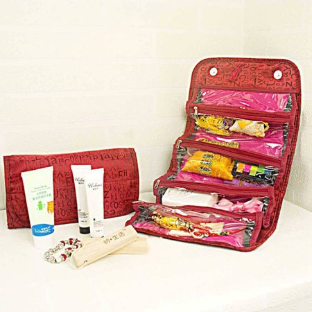 cdd15113109e Nicesee Roll-up Wall Hanging Travel Cosmetic Bag Toiletry Storage Organizer  - Walmart.com