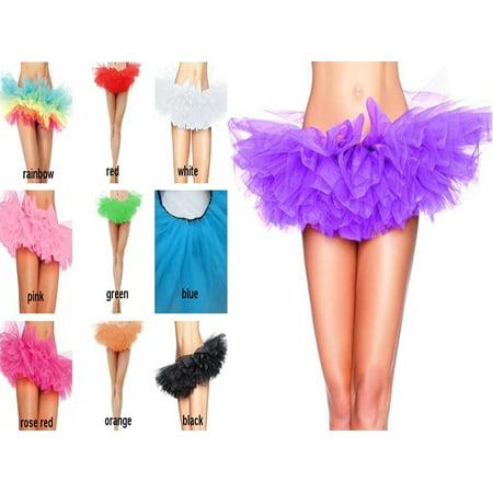 Organza Tutu (Women/Adult Teen 5 Layer Tulle TUTU Skirt Organza Pettiskirt Ballet)
