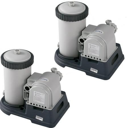 Krystal Flash - Intex 2,500 GPH Krystal Clear Cartridge Filter Pump, 2 pack