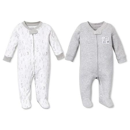 Cotton Sleep N' Play Pajamas, 2pk (Baby Boys or Baby Girls Unisex)