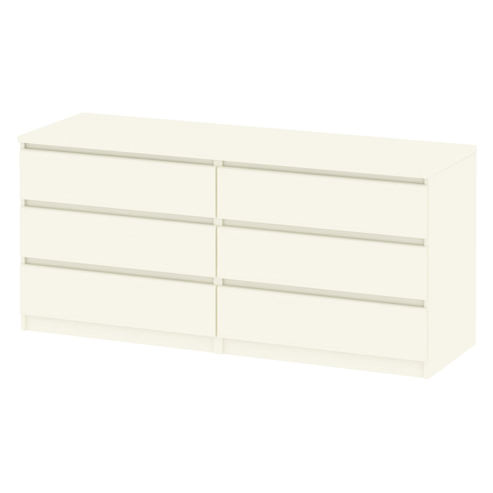 Scottsdale 6-Drawer Double Dresser, Off White by Tvilum