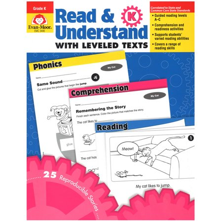 Evan-Moor Book Read and Understand with Leveled Texts Stories and Activities, Multiple (Evan Moor Activity Books)