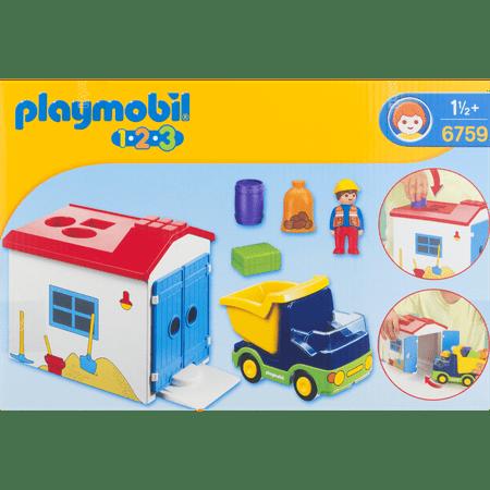 Playmobil 1 2 3 Truck With Garage Walmart Com