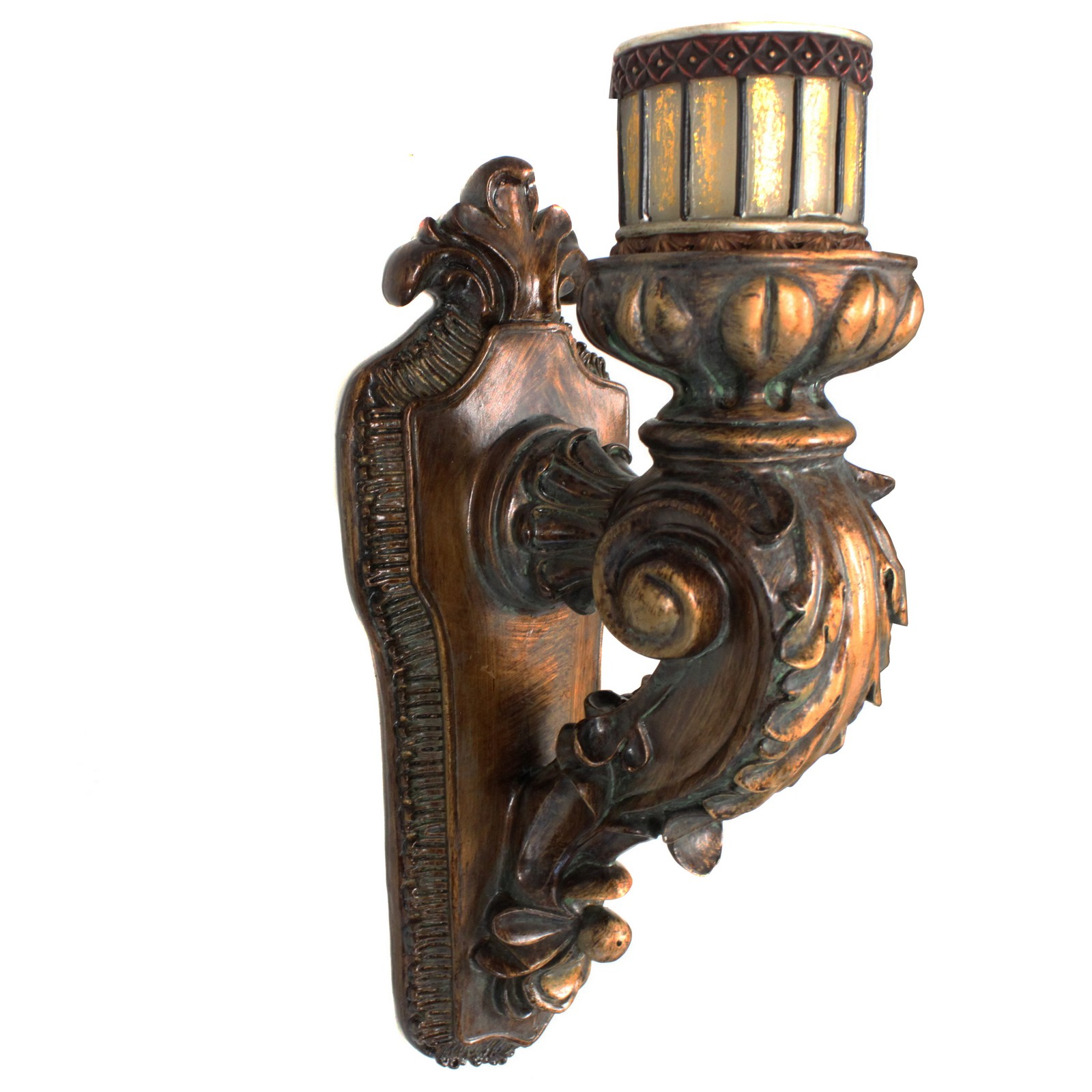 EcWorld Enterprises 7705337 Antique Replica Rusted Wall Sconce Candle Holder by Urban Designs