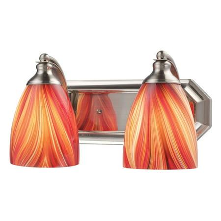 Elk Lighting Bath and Spa 570-2 Bathroom Vanity Light with Multi-Tone Glass