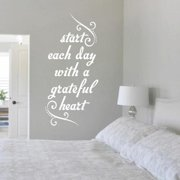 Sweetums Start Each Day with a Grateful Heart Wall Decal (22.5 x 48)