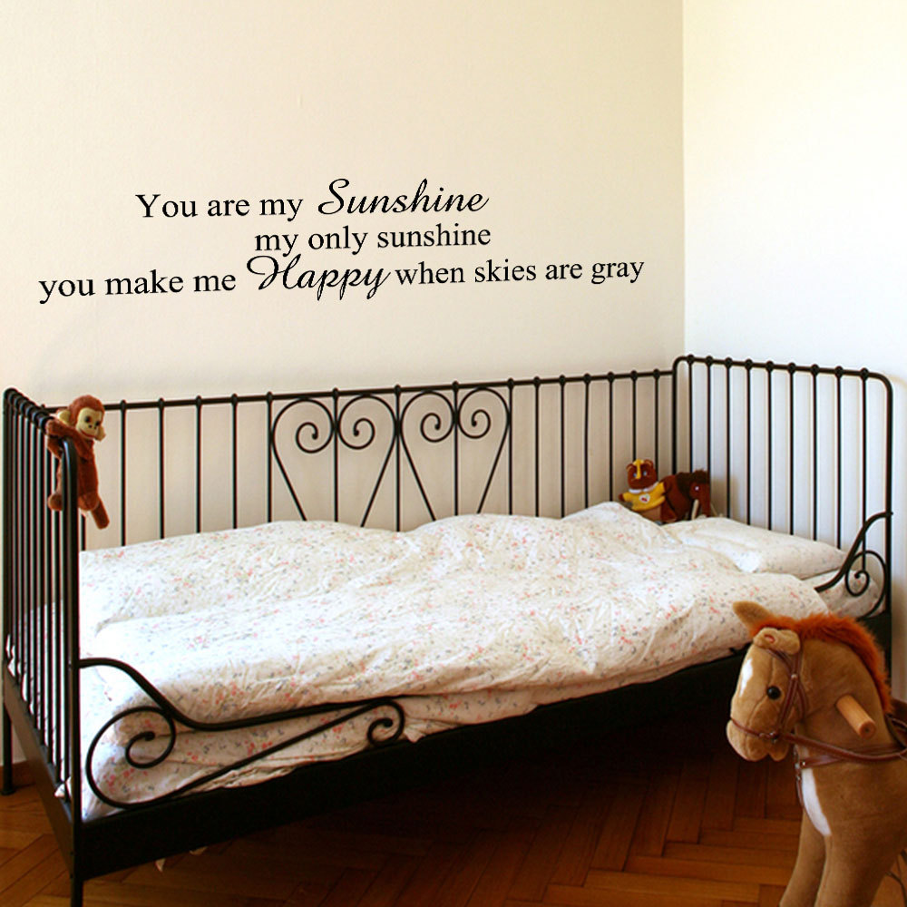You Are My Sunshine Vinyl Wall Decal Vinyl Lettering Children Room Decor JR422