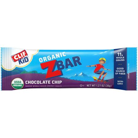 Clif Kid® Organic ZBar™ Chocolate Chip Baked Whole Grain Energy Snack 1.27 oz. Bar