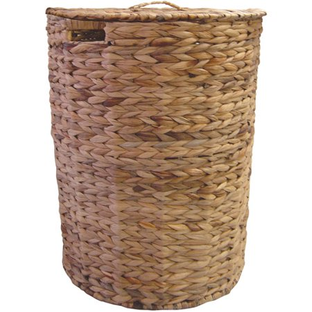 Wicker Hamper Brown Walmart Com