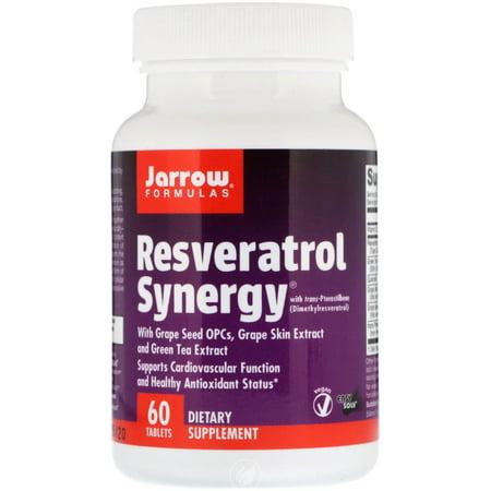 JARROW Resveratrol Synergy 60 TABS, Pack of 2