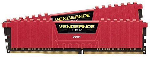 Corsair Vengeance LPX 16GB (2x8GB) DDR4 DRAM 2133MHz (PC4-17000) C13 Memory Kit - Red