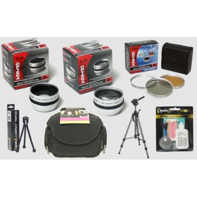 Opteka HD2 Pro Digital Accessory Kit for JVC GR-D796, GR-D770, GR-D750, GR-DA30, & GR-DA30US Digital Camcorders