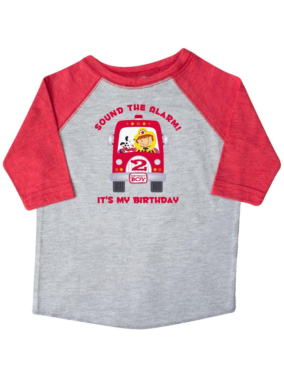 Fire Truck 2nd Birthday Boy Toddler T-Shirt