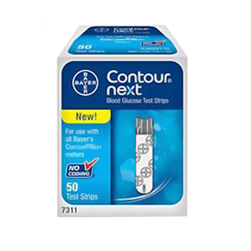 Bayer Contour Next Blood Glucose Test Strips - 50 Ea
