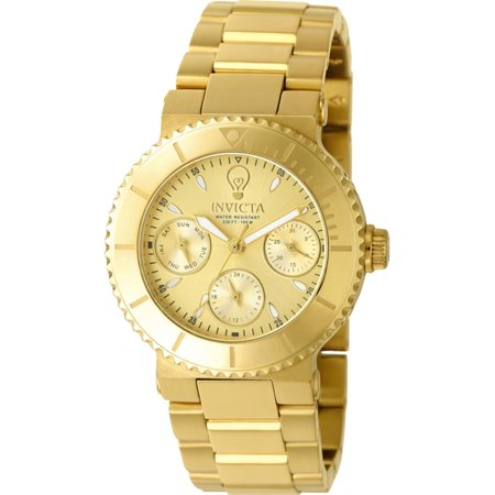 Invicta Womens Gabrielle Union Gold Tone Steel Bracelet   Case Quartz Analog Watch 22895