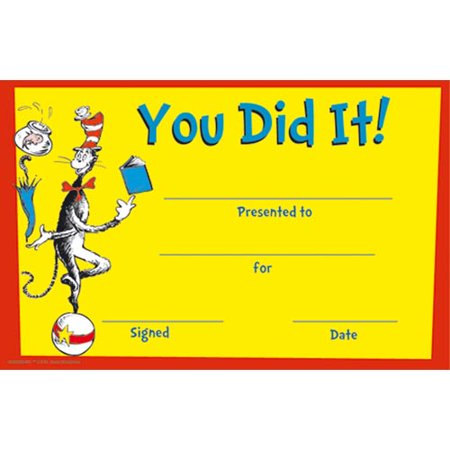 Dr. Seuss You Did It! Recognition Awards](Funny Recognition Awards)