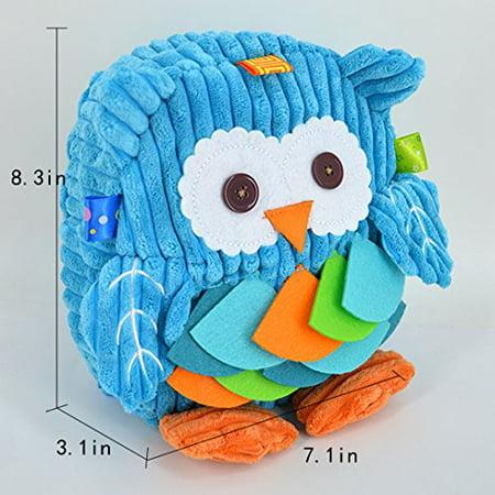 Kennedy Children Toddler Plush Backpack Cute Cartoon Owl Shape Pre School Backpack Owl Plush Bag Kid Backpack Blue - image 2 of 3