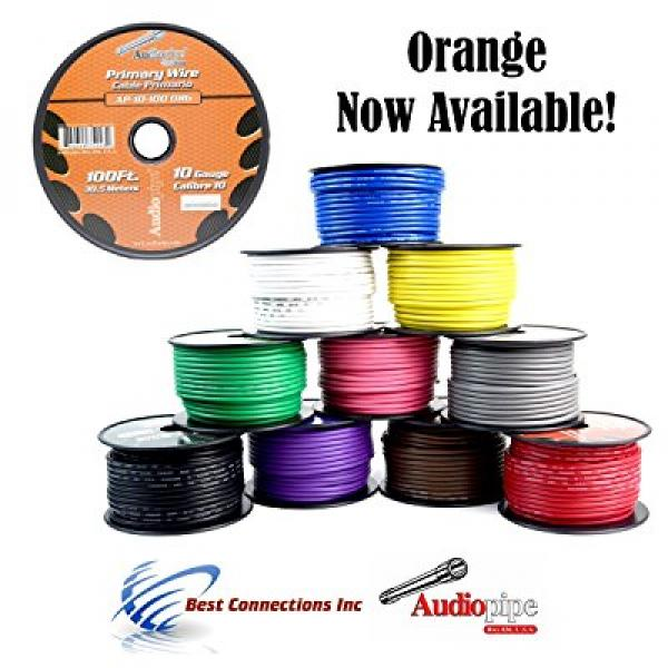 10 GA GAUGE 10 ROLLS 100 FT SPOOLS PRIMARY AUTO REMOTE POWER GROUND WIRE CABLE