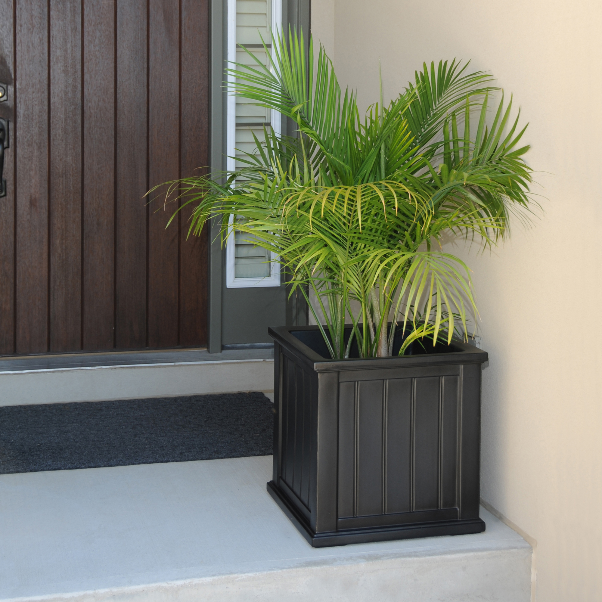 Cape Cod Patio Planter 20x20 Black by Garden Planters