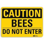 LYLE U4-1079-RA_14X10 Safety Sign, Bees Do Not Enter, 10in.H