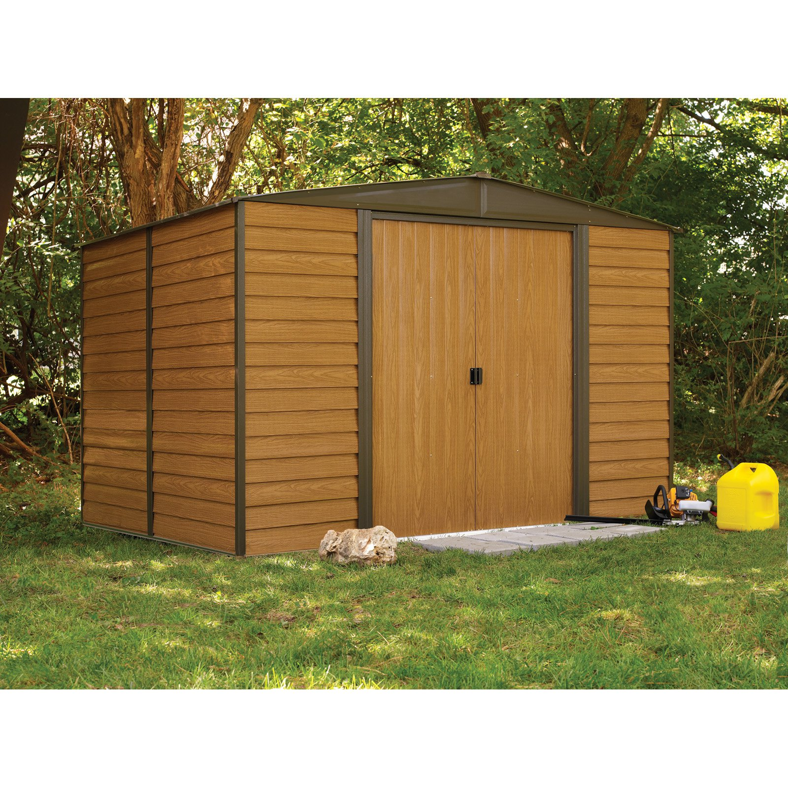 arrow shed woodridge 10 x 6 ft steel storage shed walmartcom