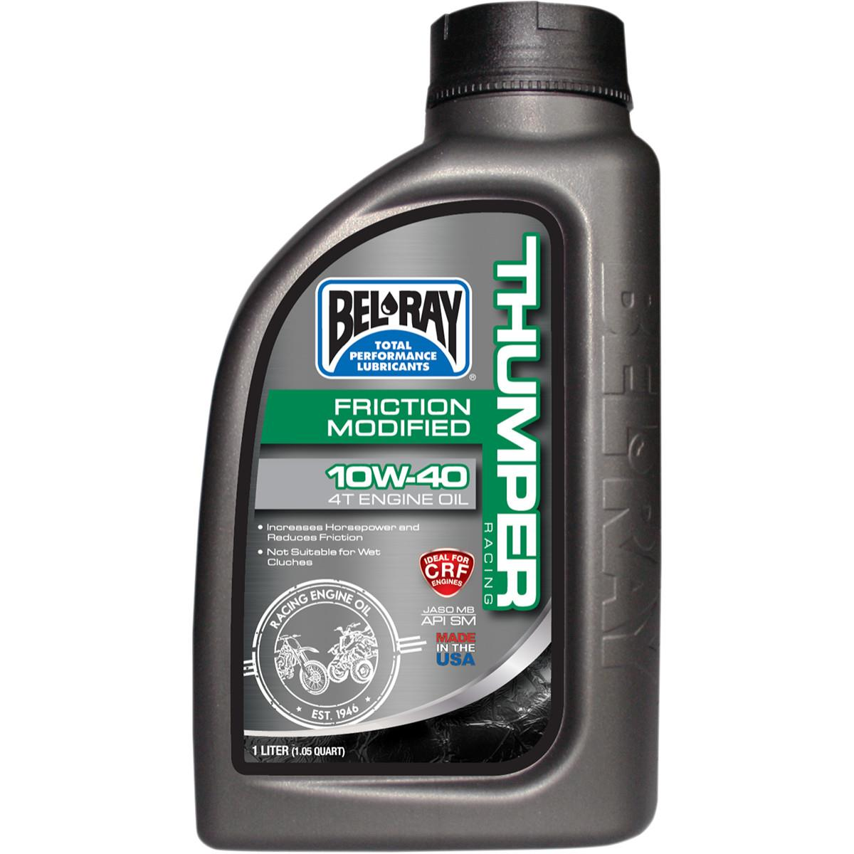 Bel-Ray 99220-B1LW Thumper Friction Modified Racing 4T Engine Oil - 10W40 - 1L.